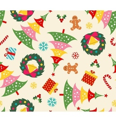 christmas set seamless pattern vector image