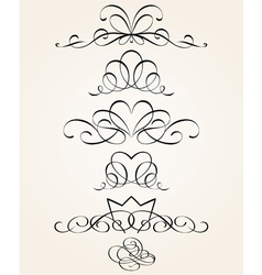 Set of calligraphic elements vector