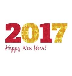 2017 happy new year with vector