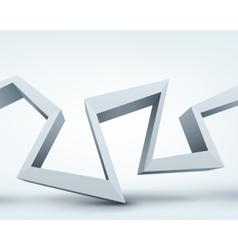3d shape on white vector
