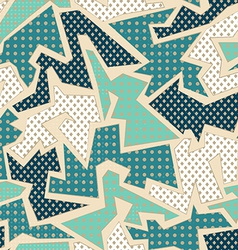 Blue textile geometric seamless pattern vector