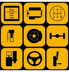 Set of automotive icons vector