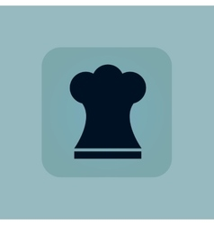 Pale blue chef hat icon vector