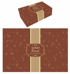 Food box packaging vector