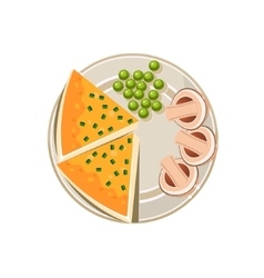 Served food vector