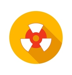Nuclear power flat icon vector