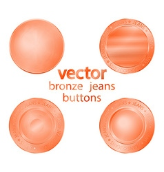 4 bronze jeans buttons vector