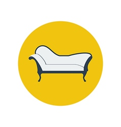 Chaise lounge armchair seat vector