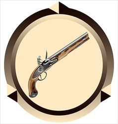 Icon pirate pistol vector
