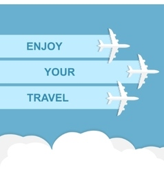 Enjoy your travel concept vector