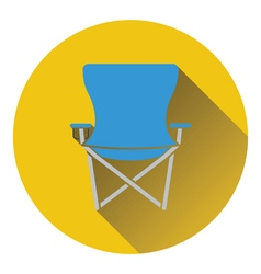 Icon of fishing folding chair vector