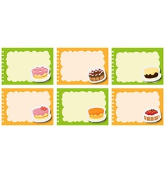 Label design with different flavor of dcakes vector image
