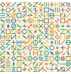 Seamless multicolor geometric line random vector