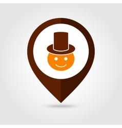 American pilgrim mapping pin icon thanksgiving vector