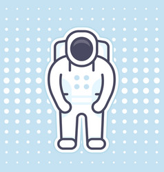 astronaut icon in flat style with outline vector image vector image