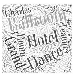 Ballrooms word cloud concept vector
