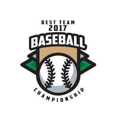 Baseball championship best team 2017 logo vector