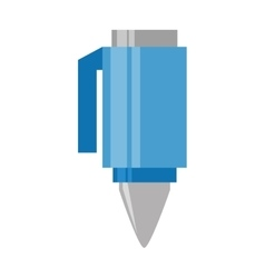 Cartoon blue pen utensil school vector