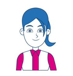cartoon woman standing business employee character vector image vector image