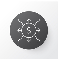 Cash flow icon symbol premium quality isolated vector