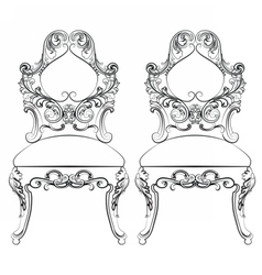 Chairs furniture classic set vector