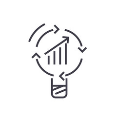 data insight idea line icon sign vector image vector image