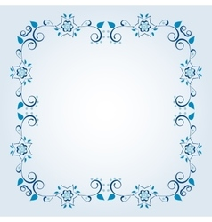 Frame with floral elements vector image vector image