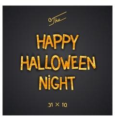 Happy Halloween Night poster vector image