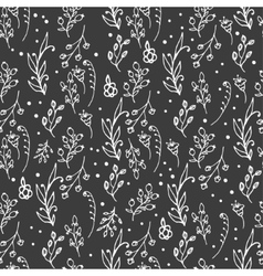 Herbal seamless pattern Herbs and wild flowers vector image vector image