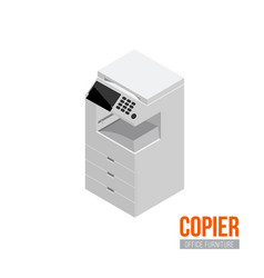 Isometric copier vector