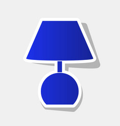 Lamp sign new year bluish vector