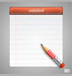 Leather notepad vector