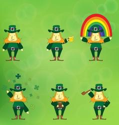 leprechaun cartoon character vector image vector image
