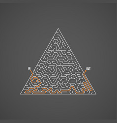 Maze puzzle with solution vector