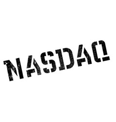 nasdaq rubber stamp vector image