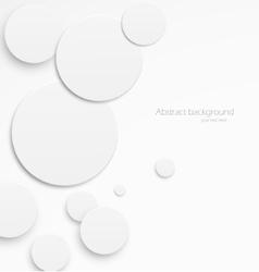 Paper circles vector image vector image