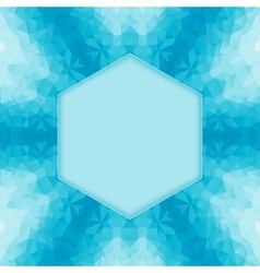 polygonal blue background vector image vector image
