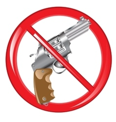 Sign prohibiting weapon vector image
