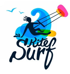 Surfer logo template vector