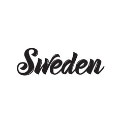 Sweden text design calligraphy vector