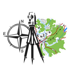 Symbol for geodesy and cartography vector