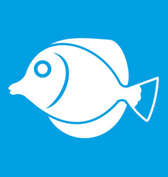 Tang fish zebrasoma flavescens icon white vector