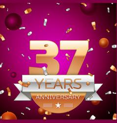 Thirty seven years anniversary celebration design vector