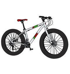 white fat bike vector image vector image