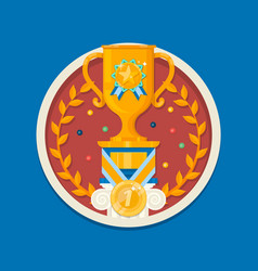 winner cup icontrophy cup vector image vector image
