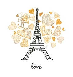 Eifel tower paris bursting with st vector