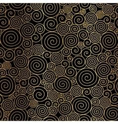 Golden black abstract swirls seamless vector