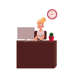 young pretty blond businesswoman secretary vector image