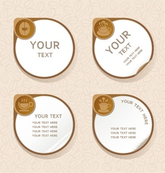 Coffee label stickers set vector