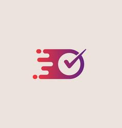 Check logotype right logo design vector